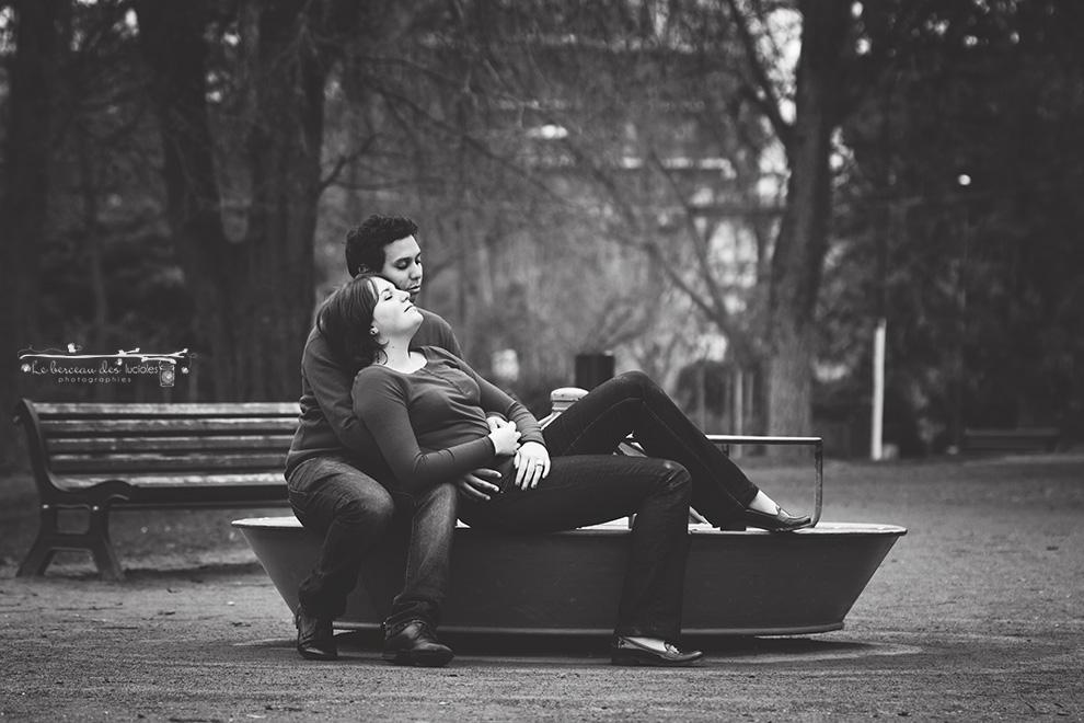 Séance photo couple tourniquet thème enfance