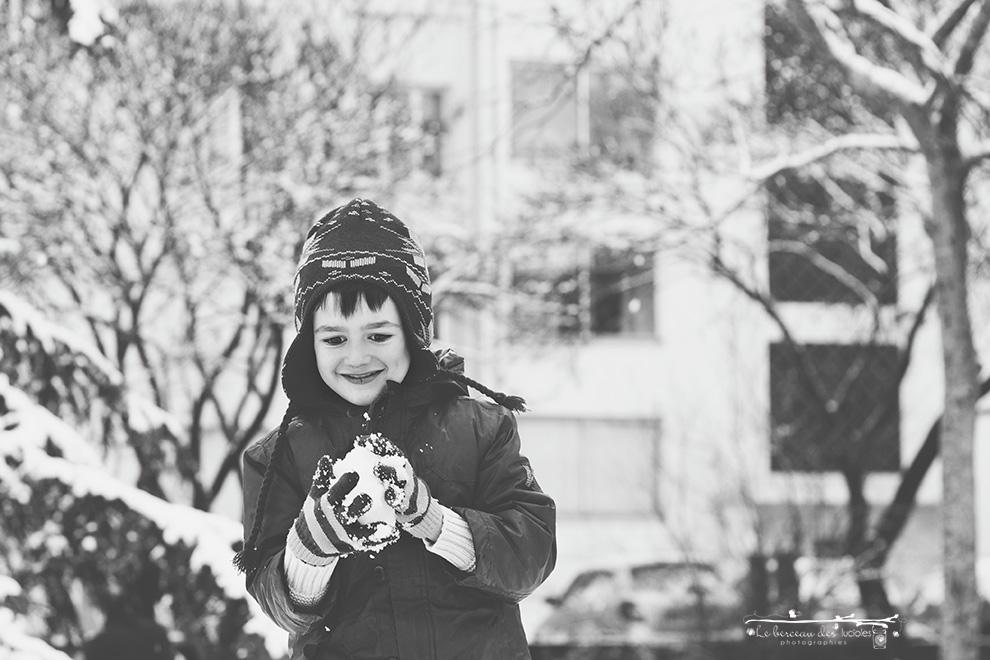 Photographe enfant neige Toulouse