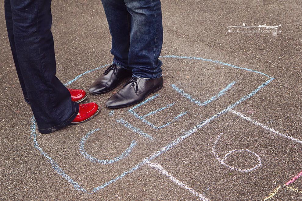 Séance photo couple sur le thème enfance Toulouse