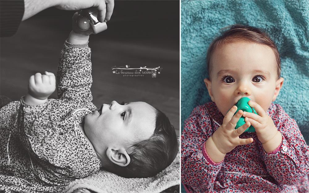 Séance pour des photos naturelles de bébé