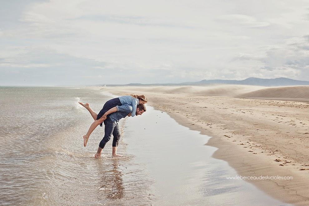 séance photo couple à la plage