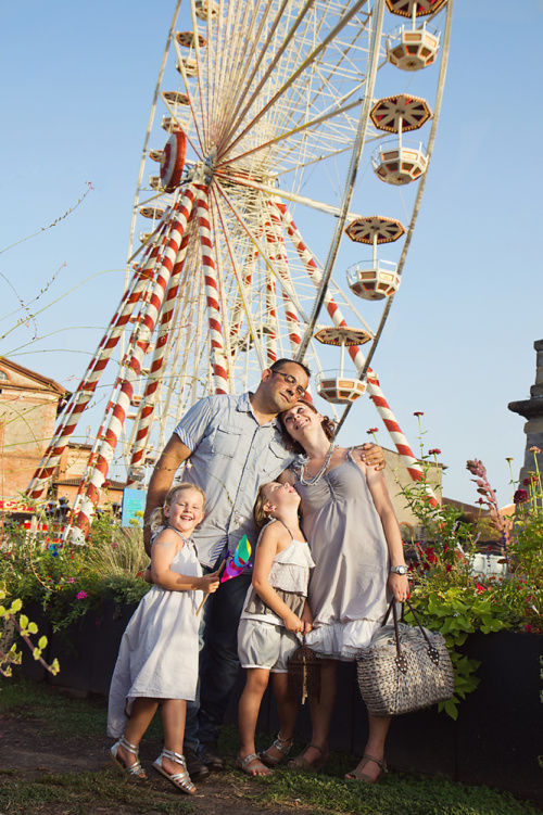 Séance photo famille fête foraine