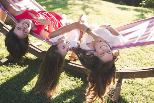 Séance photo en soeurs