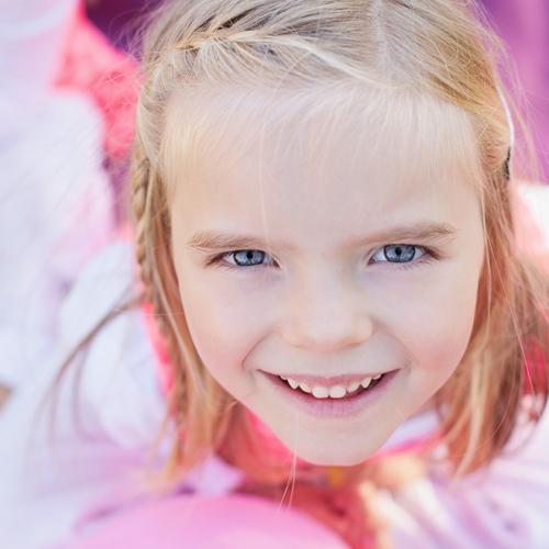 Portrait enfant coloré