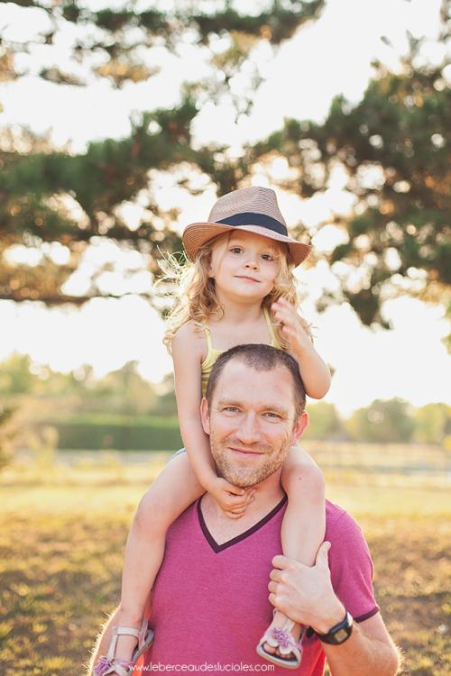 Séance photo père fille fête des pères