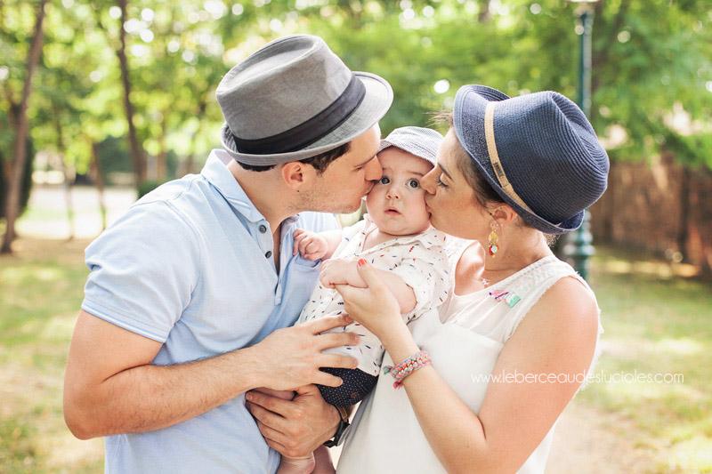 Séance bébé en famille à Toulouse