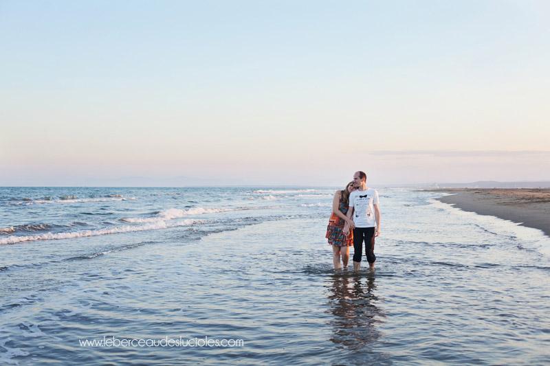Séance couple à la mer