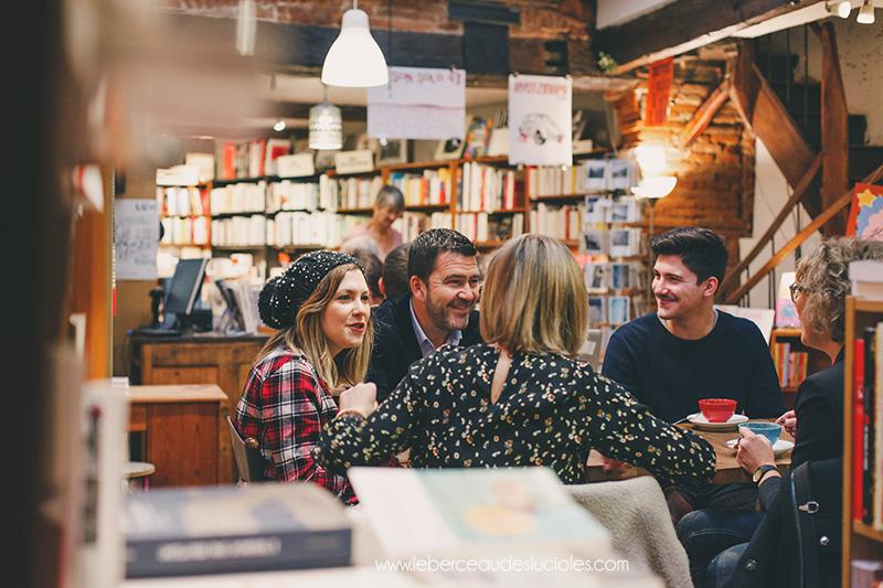 Séance famille librairie café toulouse