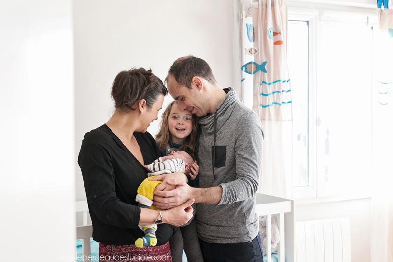 Séance photo nouveau-né en famille Toulouse