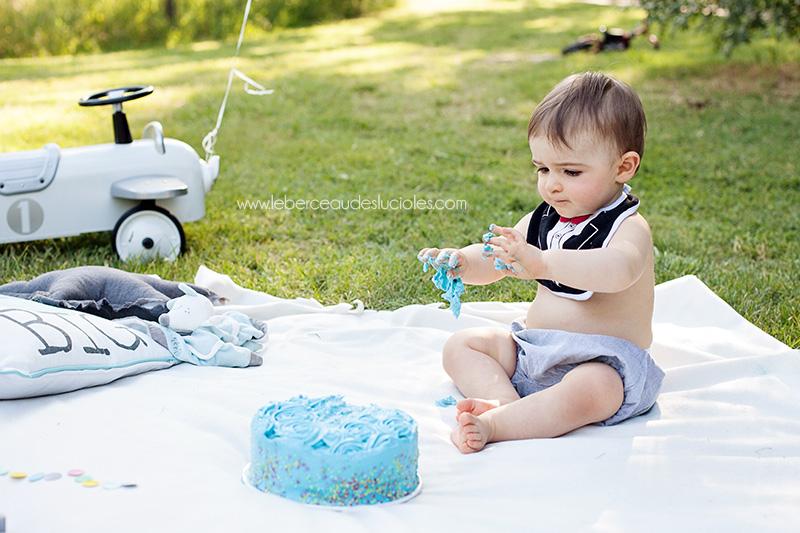 Séance photo bébé Smash the cake à Toulouse