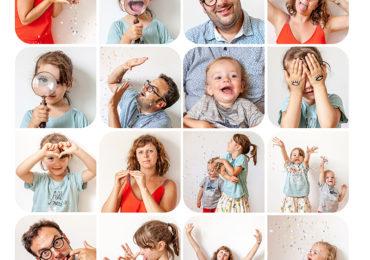 Tableau expressions photos de famille
