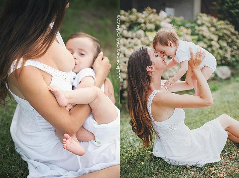 séance photo allaitement bébé
