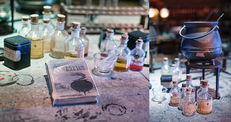 Studio warner bros harry potter londres salle de classe potions 3
