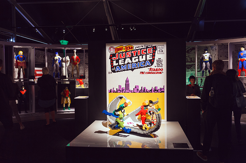 art of the brick DC super heroes london justice league
