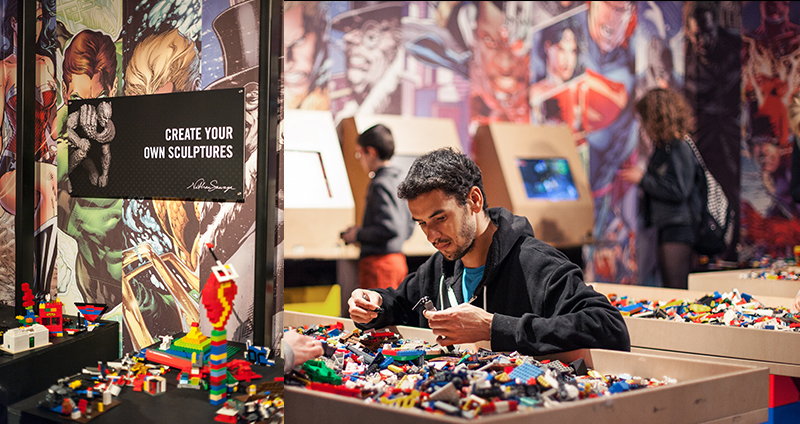 art of the brick DC super heroes london uk lego sculpture