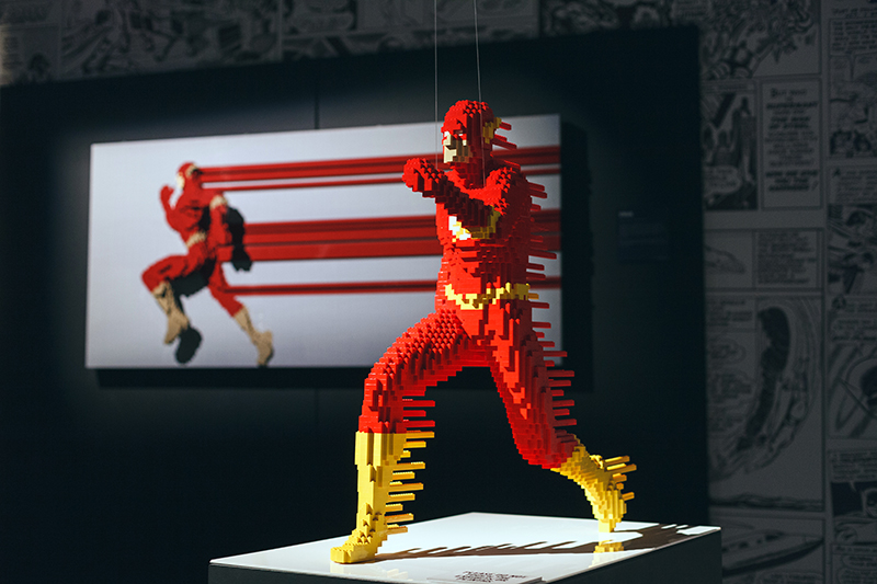 art of the brick DC super heroes londres flash