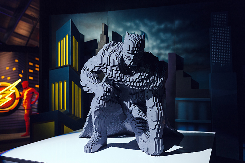 art of the brick DC super heroes londres uk batman