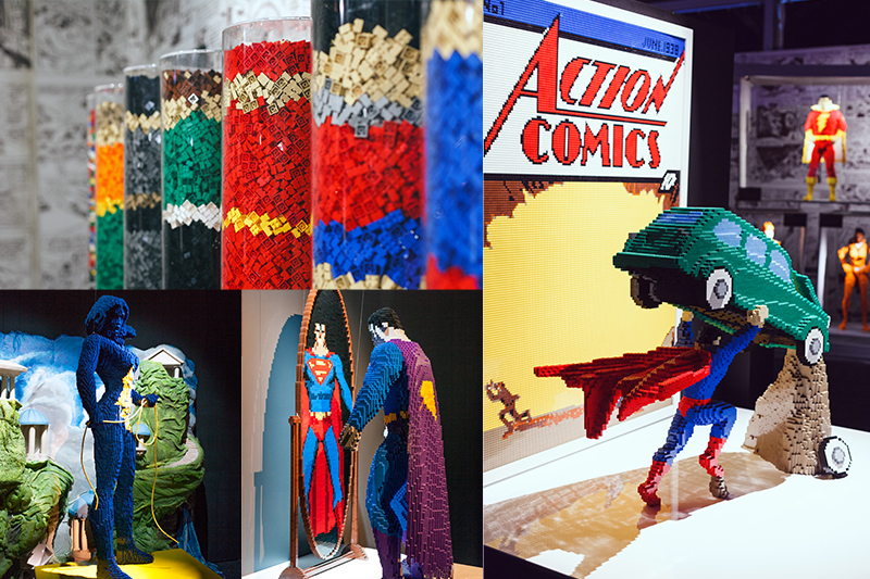 exhibition the art of the brick DC super heroes london