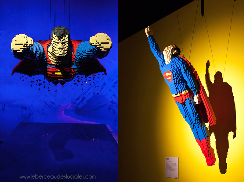 expo the art of the brick DC super heroes london