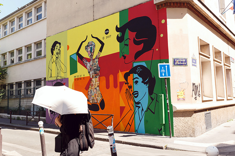 Street art Belleville Paris 4