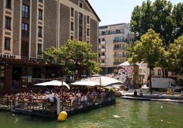 canal quartier La Villette Paris