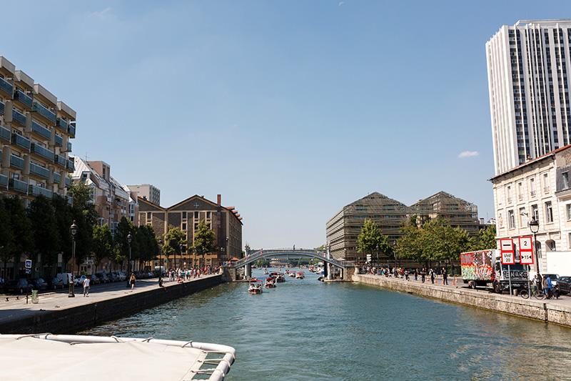 pénice canal quartier La Villette Paris