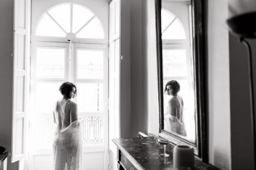Séance photo boudoir romantique