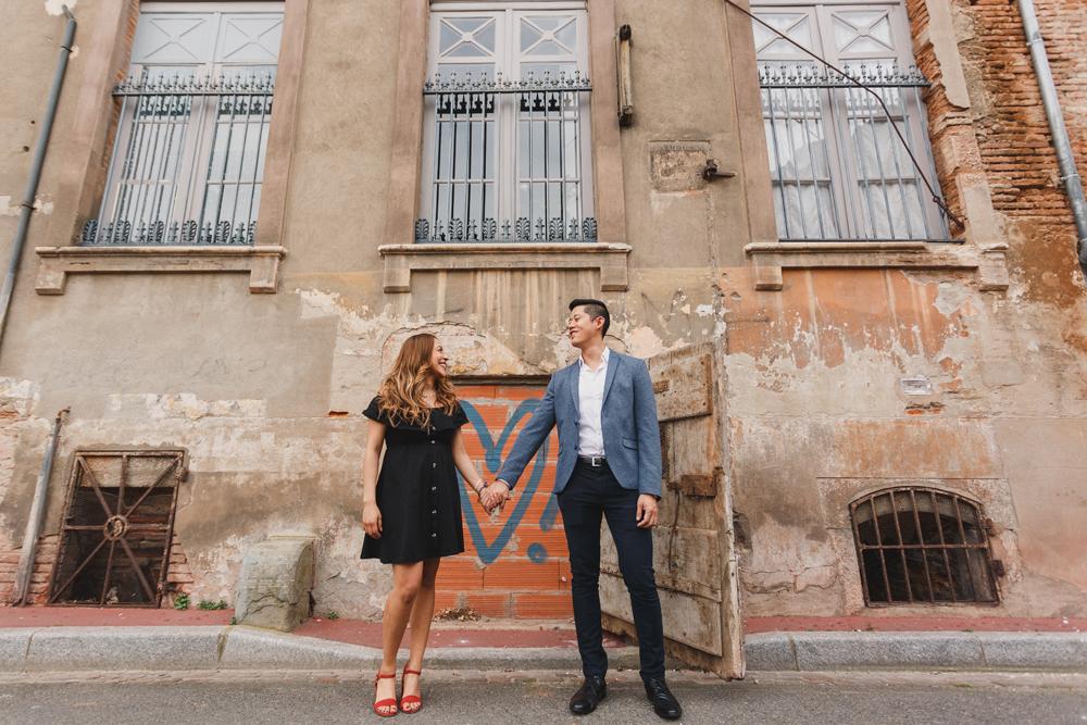 Séance photo en amoureux à Toulouse