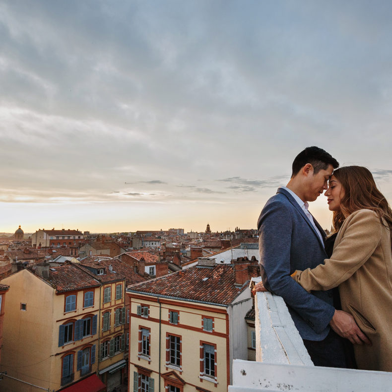 Séance photo couple à Toulouse