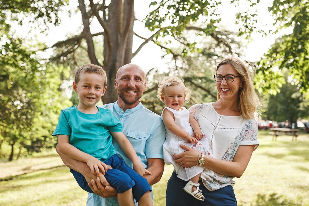 Photos de famille en été