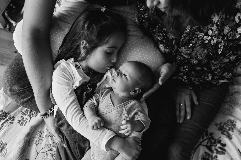 Séance photo bébé en famille